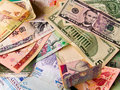 Foreign notes to other countries Royalty Free Stock Image