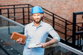 Foreman on the structure Royalty Free Stock Photo