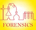 Forensics Research Indicates Equipment Apparatus And Test Royalty Free Stock Photo