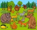 Forest Animals Cartoon Illustr...