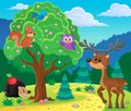 stock image of  Forest animals topic image 4