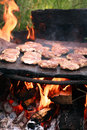 Forest bbq on stone plate Stock Images