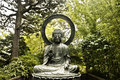 A Forest Buddha Statue Royalty Free Stock Photo