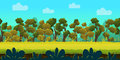 Forest 2d game Landscape for games mobile applications and computers. Vector illustration for your design