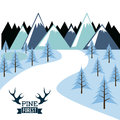 Forest design over white background vector illustration Stock Image