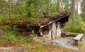 Forest dwelling northern finland lapland Royalty Free Stock Image