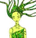 Forest Fairy Shaman. Royalty Free Stock Photo
