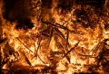 Forest Fire (Close View) Stock Photos