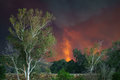 Forest Fire Vortex of Sand Fire on July 24, 2016 Royalty Free Stock Photo
