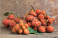Forest fruit, Uvaria rufa Blume fruit, Herb rare and endangered