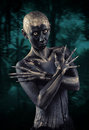 Forest guardian fantasy style portrait Royalty Free Stock Photography