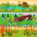 Forest Horizontal Banners Set