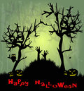 The forest in the horror night hands halloween Royalty Free Stock Photography