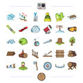 Forest, nature, business and other web icon in cartoon style. Royalty Free Stock Photo