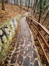 Forest Park under Trencin Castle, Slovakia