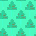 Forest seamless pattern. Green trees ornament. Kids fabric textu