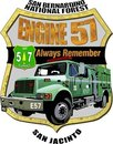 Forest Service Engine 57 Memorial Decal Stock Image