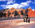 Forest sign dixie national forest utah for in the red canyon usa Stock Images