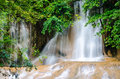Forest stream and waterfall in kanchanaburi thailand Stock Image