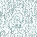 Forest trees texture seamless pattern background vector with hand drawn elements Stock Photography