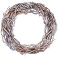 Forest twig branches wreath in a hand drawn watercolor style isolated.