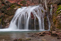 Forest waterfall autumn crimea ukraine Royalty Free Stock Images