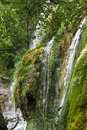 Forest waterfall on pitvetskih lakes croatia Royalty Free Stock Photography