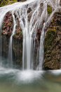 Forest waterfall small crimea ukraine Royalty Free Stock Photo