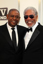 Forest whitaker morgan freeman at afi s th annual achievement award honoring sony pictures studios culver city ca Stock Photography