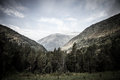 Forested valleys between the mountains andorra Royalty Free Stock Photos