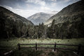 Forested valleys between the mountains andorra Royalty Free Stock Image