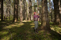 Forester in a Pacific Northwest Stock Photography
