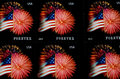 Forever stamps usa flag on postage Stock Photography