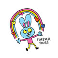 Forever Yours - Cute Bunny Cha...