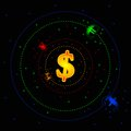 Forex galaxy vector picture that represent market as a solar system Stock Photo