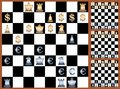 Forex game picture of chess with currensies signs on chessboard vector eps illustration Royalty Free Stock Image