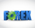 Forex text sign illustration design over white Royalty Free Stock Photos