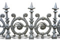 Forged decorative fence Stock Photography