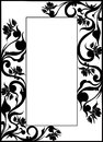 Forged frame window design ornate Royalty Free Stock Photos