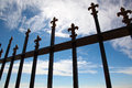 Forged gate against the blue sky Royalty Free Stock Photography