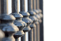 Forged gate detail close up Royalty Free Stock Photography