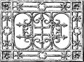 Forged grate vector drawing of decorative on the wall of the building Stock Photography