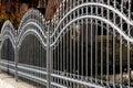 Forged iron fence Royalty Free Stock Photo