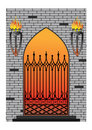 Forged iron gothic window Royalty Free Stock Photography