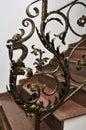 Forged iron railing Royalty Free Stock Photo