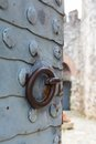 Forged plate on the gate rumeli fortress closeup Royalty Free Stock Photos