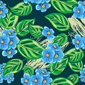 Forget-me-not pattern Royalty Free Stock Images