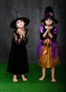 Forgiveness expressions and emotions in halloween costumes Royalty Free Stock Photography