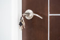 Forgot door key at home photo Royalty Free Stock Images