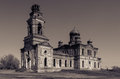 Forgotten curacy russia а church in a village Stock Images